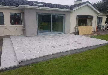 An almost completed house extension, by Colin Morris Construction, the builders in Meath