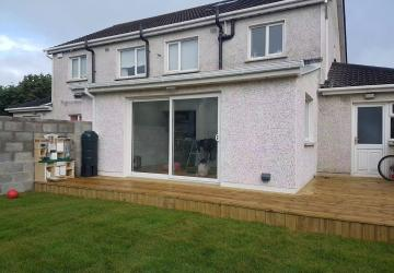 Extension for a house by Colin Morris Construction, the builders in Meath