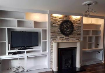A living room after renovation, by Colin Morris Construction, the property renovations specialists