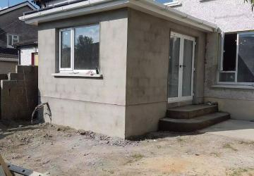 A house extension in the middle of construction process, by Colin Morris Construction, the builders in Meath
