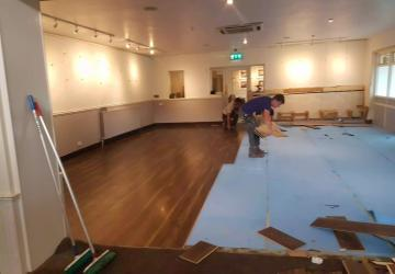 A commercial room during renovation, by Colin Morris Construction, the property renovations specialists